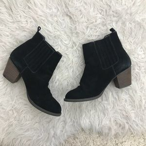 AMERICAN EAGLE LEATHER SUEDE BLACK BOOTIES 7.5